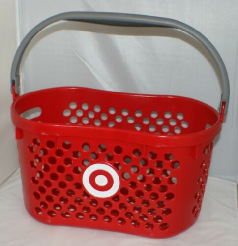 Target Red Logo Shopping Basket With Gray Handle Pretend Play Kids Toy Storage