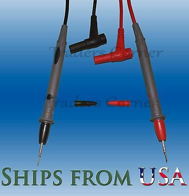 Cat Iii Fine Tip Test Leadsprobes Clips For Fluke Amprobe Other Multimeters
