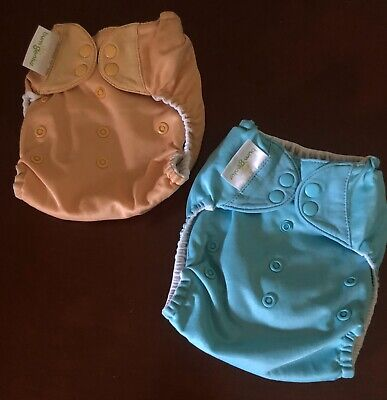 One Size Bumgenius pocket diapers snap closures Lot Of 2