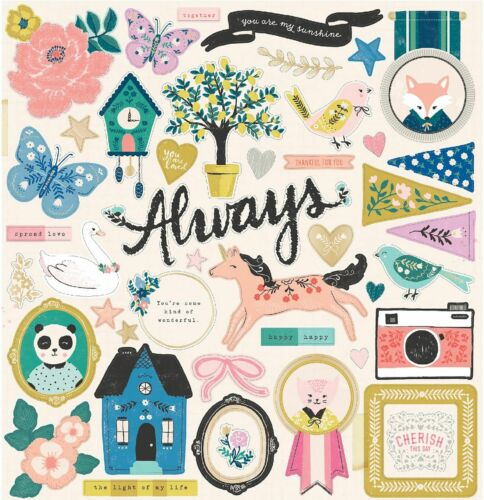 """Maggie Holmes 12""""x 12"""" Chipboard Sticker sets~WILLOW/HERITAGE/SUNNY Quick Ship!"""
