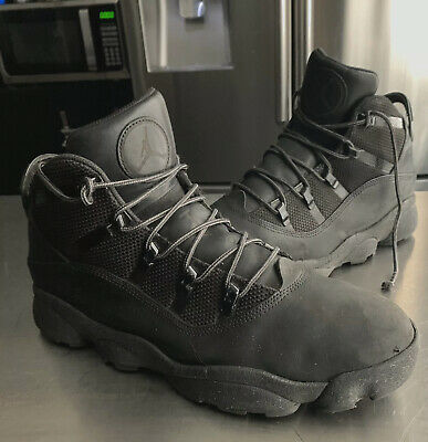 "Ring Cushion Boots (NIKE AIR JORDAN ""6 RINGS WINTERIZED"" LEATHER BOOTS BLACK MENS 11 (414845)"