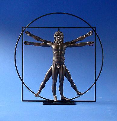 DER VITRUVIANISCHE MENSCH Skulptur -M- Leonardo da Vinci DAV03 Parastone Museion