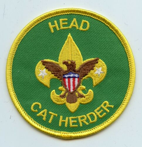 """Head Cat Herder"" Assistant Scoutmaster patch.  Joke/spoof patch"