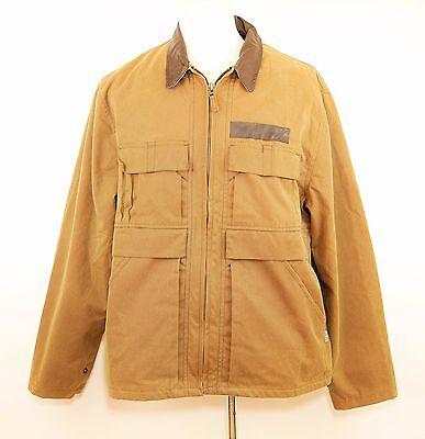 Outdoor Traders (VTG KAKADU TRADERS Brown Oilskin Cotton Jacket Coat - Hunting Outdoor - MENS)