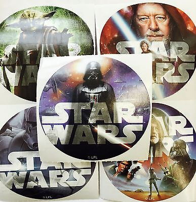 25 Star Wars Classic  Stickers Party Favors Teacher Supply  Yoda Darth Vadar](Yoda Party Supplies)