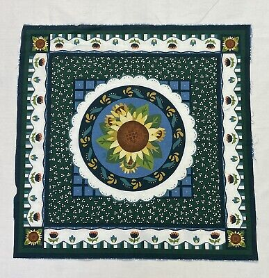 1 Sunflower Fabric Square Panel Blanket Quilt Pillow