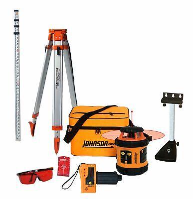 Johnson Level Tool 99-006k Self Leveling Rotary Laser System Kit Soft Shell...