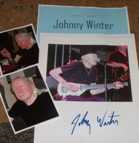 JOHNNY WINTER /Legend/Autographed Photo & Photos- HOT