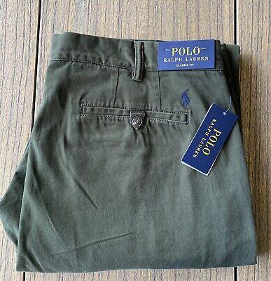 Polo Ralph Lauren Men's Classic Fit Olive Green Twill Chino Pants Sz 38x30 NWT