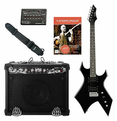 Pack Guitarra Electrica Heavy Metal Warhead Pickup Set Guitar Combo Afinador