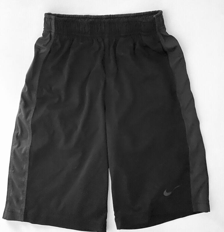 Nike DRI-FIT boys athletic black shorts size L Black Gray