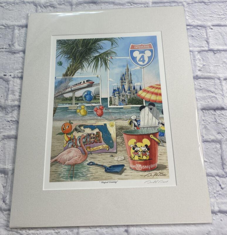 "Disney Art David E. Doss ""Magical Greetings""  16x20 Print Orange Bird Castle I-4"