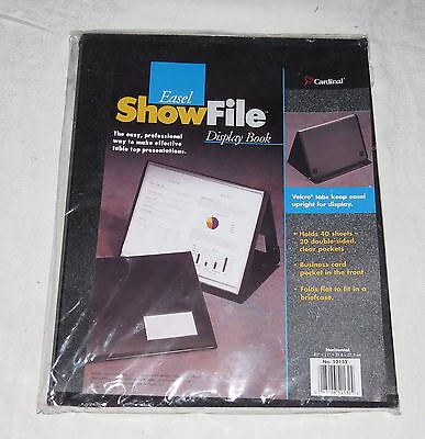 Easel ShowFile Display Book Cardinal Horizontal #52132 NEW Showfile Easel Display Book