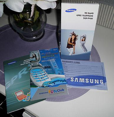 Bedienungsanleitung für Samsung - Handy SGH-P400 in Englisch
