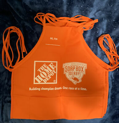 (4) New Home Depot Kids Workshops Aprons.Vintage w/ All American Soap Box Derby