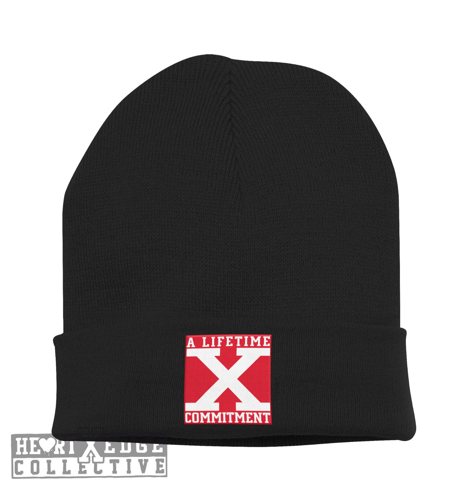 Beanie Mütze Motiv A Liftetime Commitment Straight Edge Drug Free Youth