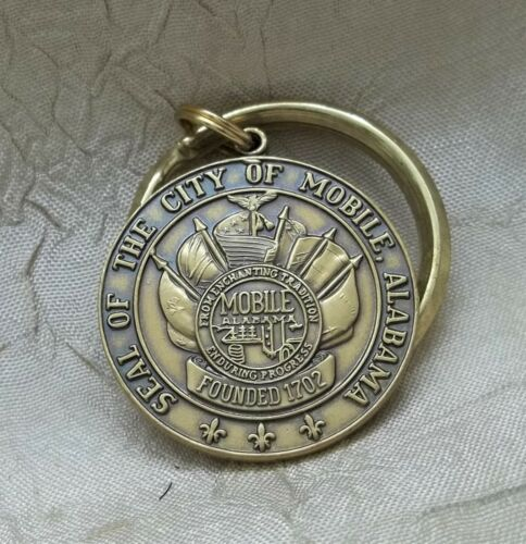 Official Seal Of The City Of Mobile Alabama Key Ring