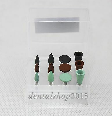 Dental Ra Burs Kit Amalgam Polishing Cups Low-speed Contra Silicone Rubber Bur