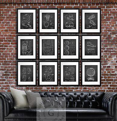 Basketball posters home decor unframed art set of 12 prints basketball gift idea](Basketball Decorating Ideas)