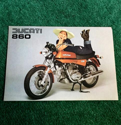 ORIGINAL 1975 DUCATI 860 MOTORCYCLE SALES LEAFLET BROCHURE