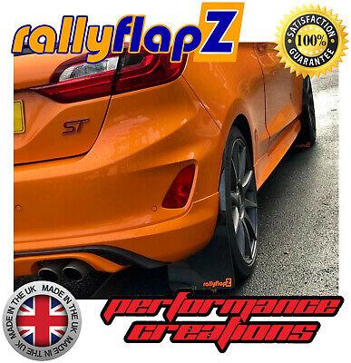 05/> Rally Mudflaps MITSUBISHI L200 Red 4mm PVC Mud Flaps Ralliart Logo White