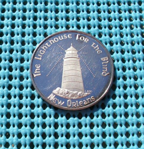 1968 The LIGHTHOUSE for the Blind  .999 FINE SILVER Mardi Gras doubloon