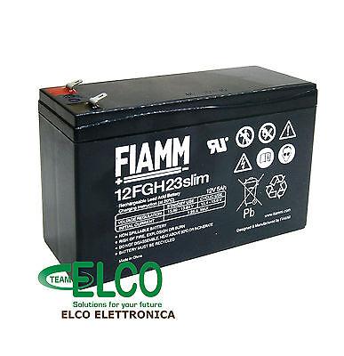 Fiamm 12FGH23slim Batería de Plomo 12V 5Ah Compatible Cartucho APC RBC106