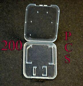 Lot-200-Plastic-Case-For-SD-card-MicroSD-memory-card-SanDisk-Kingston-Transcend