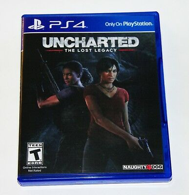 Replacement Case  No Game  Uncharted The Lost Legacy Playstation 4 Ps4 Box