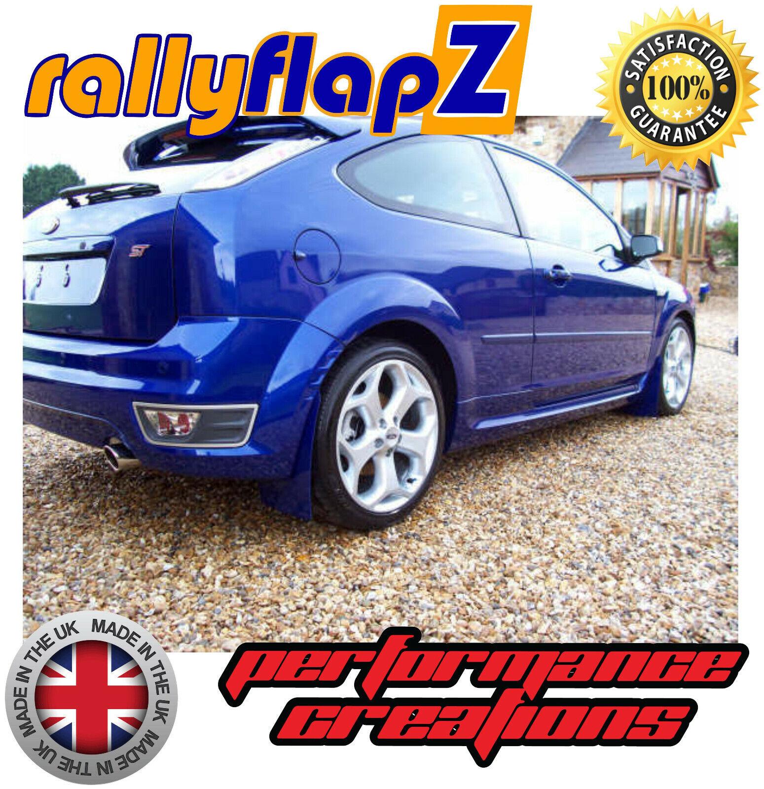 FORD FOCUS MK2 ST225 04-11 Mudflaps BLUE 4mm Thick PVC MSA Rally Spec Mud Flaps