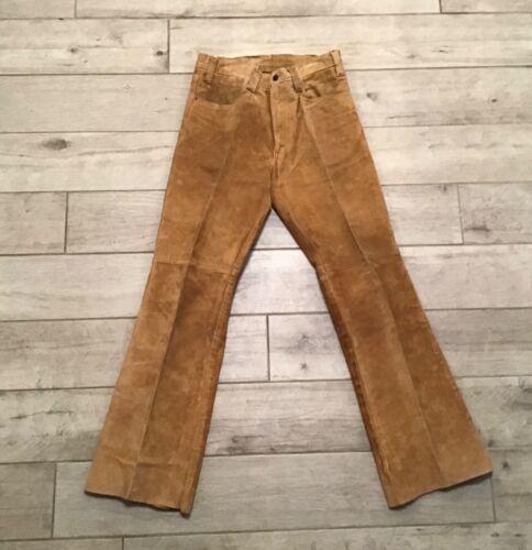 Vintage Levi's Big E Black Tab Suede Leather Pants 30 x 31