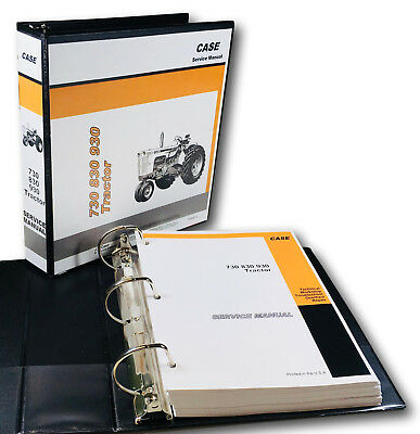 Case 930 Series 931 940 941tractor Service Manual Shop Book-full Overhaul