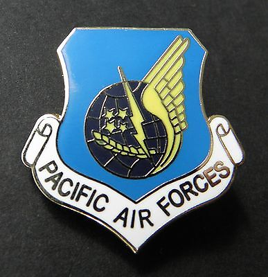 PACIFIC AIR FORCES USAF AIR FORCE SHIELD LAPEL PIN BADGE 1 INCH