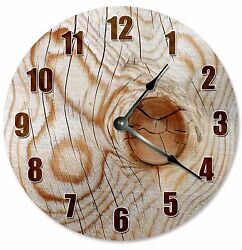 Housewarming Gift Room Wall Decor Modern Large Wall Clocks KNOT IN WOOD Clock