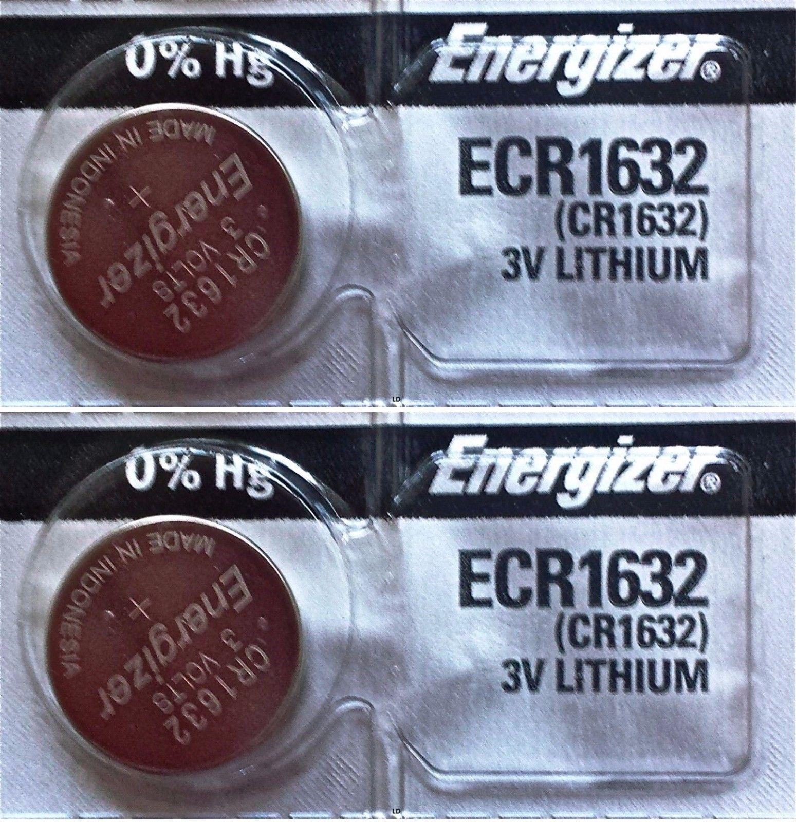 2 Piece FRESH ENERGIZER CR1632 ECR1632 1632 3V Lithium Coin Battery Expire 2025 Consumer Electronics