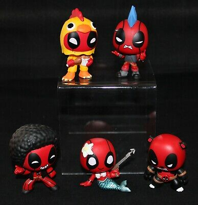 FUNKO POP MINI'S DEADPOOL BOBBLEHEADS **** FREE SHIPPING **** PRE-OPENNED ****