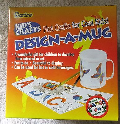 Kid's Crafts DESIGN-A-MUG plastic cup for kids to design - 5 varieties ON - Plastic Cups For Sale
