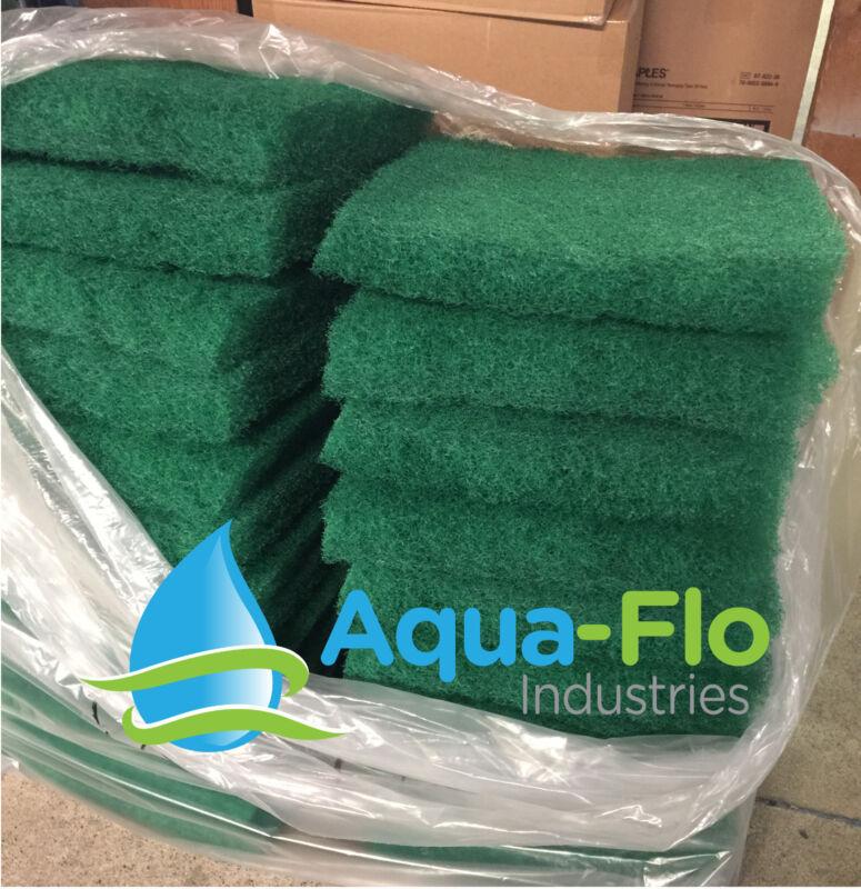 "Aqua-Flo Two-Pack Green Pond Filter Mat/Media/Pad 12""x12"" water garden-skimmer"