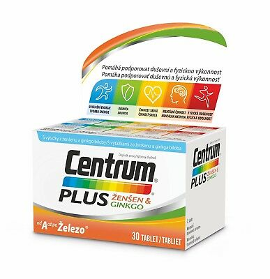 Genuine Centrum Plus Ginseng & Ginkgo complete vitamins minerals multivitamins