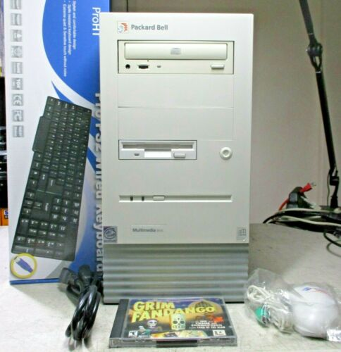 Packard Bell Windows 98 95 DOS Gaming Computer PCI ISA Restore CD Grim Fandango!