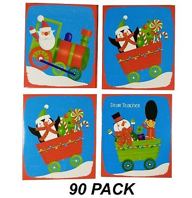 BULK 180 Pack Class Christmas Cards 85 x 100mm - with Envelopes