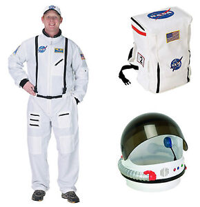 ASTRONAUT SPACE SUIT ADULT Costume HELMET, BACK PACK