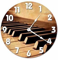 PIANO KEYS Clock - Large 10.5 Wall Clock - 2036
