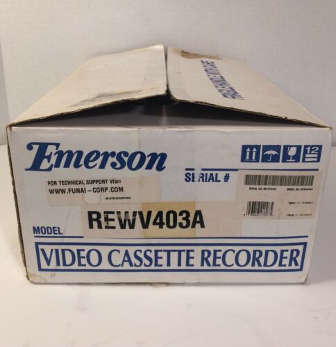 New Open box OEM Reconditioned Emerson 4-Head VCR VHS Video Recorder &OEM Remote