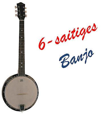Banjo BX6-6-saitiges, Mensur 65,8cm, Remo Weatherking-Fell,Randeinlagen-MSA!n