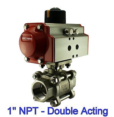 Pneumatic Air Actuated Stainless Ball Valve 1 Inch Double Acting Air Return