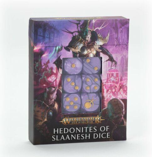 Warhammer AOS Hedonites of Slaanesh: DICE SET (x20 Dice) • NIB 83-94 D6