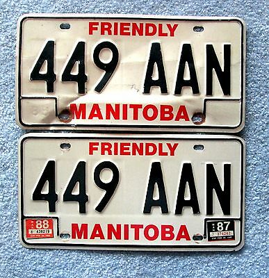 1983 Manitoba License Plate 449 AAN BUY ONE OR TWO lsu2