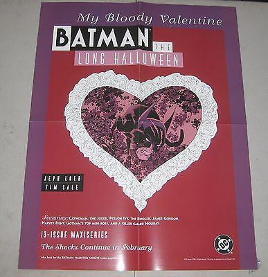 1997 BATMAN: THE LONG HALLOWEEN Dealer 2-Sided Promo Poster 17x22 DC Comics #1 ](Halloween Promo Poster)