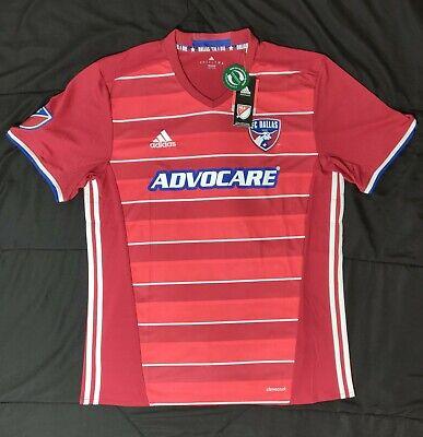 abb088066e8 Adidas FC Dallas Home Replica Soccer Jersey Red White Blue MSRP $85 Size L